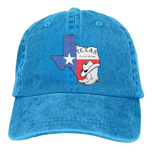 Wdskbg Texas Land Texas Forever Unisex Justierbare Baseballmützen Denimhüte Cowboy Sport Outdoor Multicolor30