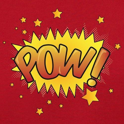 Superheld Pow - Herren T-Shirt - 13 Farben Rot