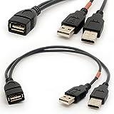 USB-Kabel Y-Verteiler USB 2.0 Energien-Erhöhung Naben-Adapter 1 Frau 2 Mann-Daten-Aufladeeinheit Kabel-Verlängerung Co