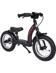BIKESTAR® Original Premium Sicherheits-Kinderlaufrad für mutige Entdecker ab 3 Jahren ★ 12er Classic Edition ★ Teuflisch Schwarz (matt)