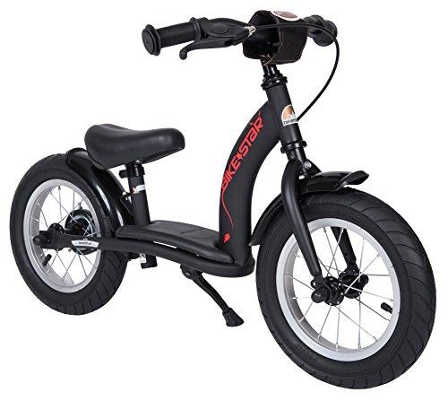 Preisvergleich Produktbild BIKESTAR® Premium Sicherheits-Kinderlaufrad für mutige Entdecker ab 3 Jahren  12er Classic Edition  Teuflisch Schwarz (matt)