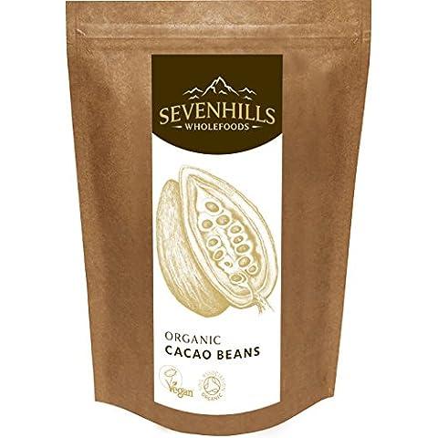 Sevenhills Wholefoods - Granos de cacao crudos, orgánico, 150 gramos