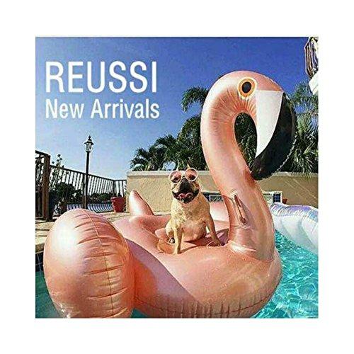 """Preisvergleich Produktbild Rose Gold Flamingo Riesiger aufblasbarer, Pool-Schwimmtier, aufblasbares Sommerspielzeug, Pool-Party-Spielzeug mit schnellen Ventilen 150 * 150 * 86cm(rose gold flamingo """"150cm)"""