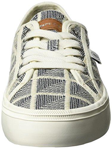 Marc O'Polo Damen 70213923501612 Sneaker Mehrfarbig (white/blue)