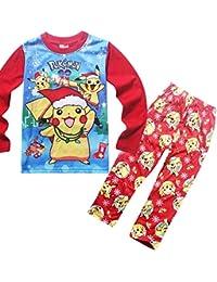 Boy Manga Larga 2018 Navidad Niños Pijamas Traje Azul