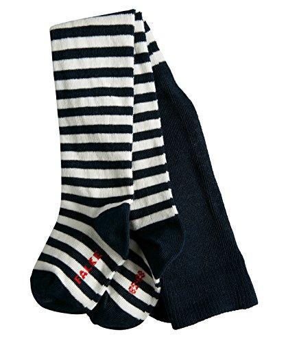 FALKE Baby Strumpfhosen / Leggings Stripe - 1 Paar, Gr. 62-68, blau, Baumwolle verstärkt, hautfreundlich, Ringelmuster, Jungen Mädchen