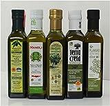 Olivenöl Probier Set aus 5 verschiedenen Olivenölen aus Kreta Griechenland