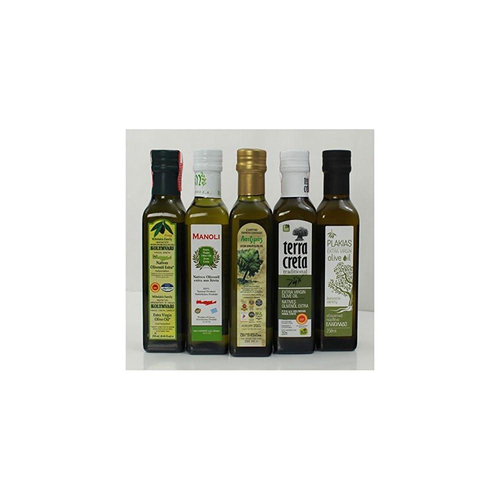 Olivenl Probier Set Aus 5 Verschiedenen Olivenlen Aus Kreta Griechenland Testset Griechisches Oliven L 5 Le