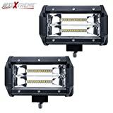 #1: Allextreme 7 Inch 120W Cree Led Fog Light Cube Led Pod Work Light For Cars Off Road Truck 4Wd Suv Atv Waterproof 9-24V Flood Light (Pack Of 2)