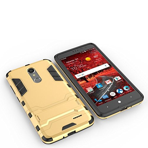 YHUISEN ZTE Grand X4 Case, 2 In 1 Iron Armour Tough Style Hybrid Dual Layer Rüstung Defender PC + TPU Schutzhülle mit Stand Shockproof Case für ZTE Grand X4 ( Color : Blue ) Red