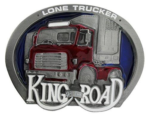 Preisvergleich Produktbild King of the Road Lone Trucker Gürtelschnalle in einer meiner Präsentationsschachteln.