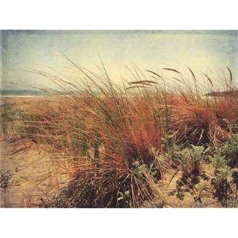 Feelingathome.it, STAMPA SU TELA 100% cotone INTELAIATA Sand Dunes II cm 82x108 (dimensioni personalizzabili a richiesta)