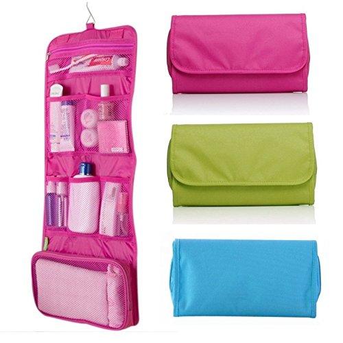 Takestop® Beauty Case Travel Bag con Gancho para colgar bolso maquillaje Make Up bolsillo bolsa viaje organizador color aleatorio