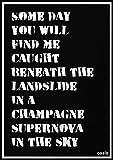 Wizbit arte e design Oasis poster/stampa/Billboard/Gig-champagne Supernova A1(23.4'x33.1')