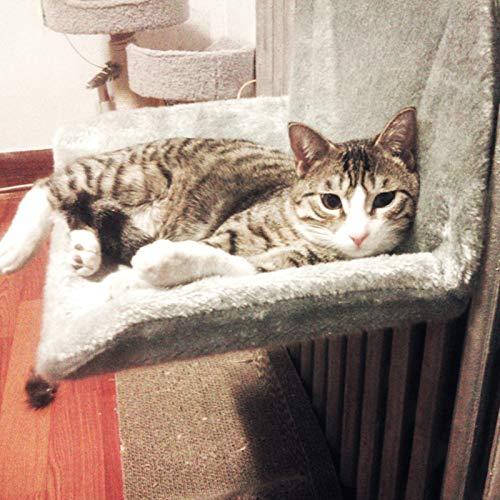 1PC radiador cama del gato gato Puede Mover la cómoda cama de gato mascota salón hamacas Ventana alféizar de cama sillas altas colgó UNA hamaca instalación de asientos para mascotas