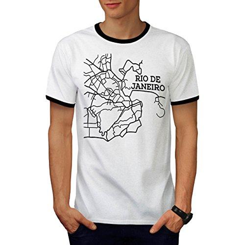 Rio de Janeiro Mode Brasilien Stadt Herren M Ringer T-shirt | Wellcoda