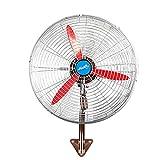 Ventilatore oscillante a parete Ventilatore elettrico industriale Ventilatore a 3 pale ad aria compressa ad alta potenza 3-Speed   a 3 velocità, 50CM-80CM ( Color : Aluminum Leaf , Size : 80*90cm )