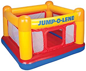"Intex Playhouse Jump-O-Lene Inflatable Bouncer, 68"" X 68"" X 44"", For Ages 3-6"