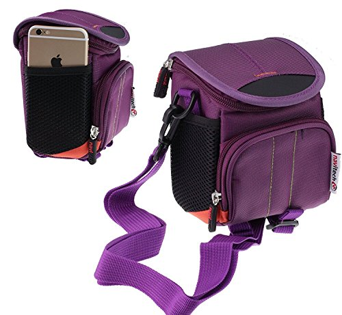 Navitech violet Digital Kamera Tasche Abdeckung für den Sony DSC-H300/BM - 20.1MP High Zoom Point and Shoot Camera 35x Zoom Point-and-shoot-kamera
