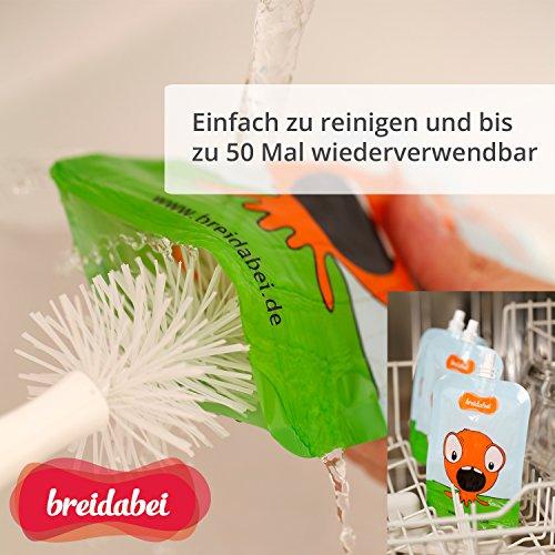 Quetschbeutel Wiederverwendbar I Quetschies Aufbewahrung Baby Brei /&... 2 Stk