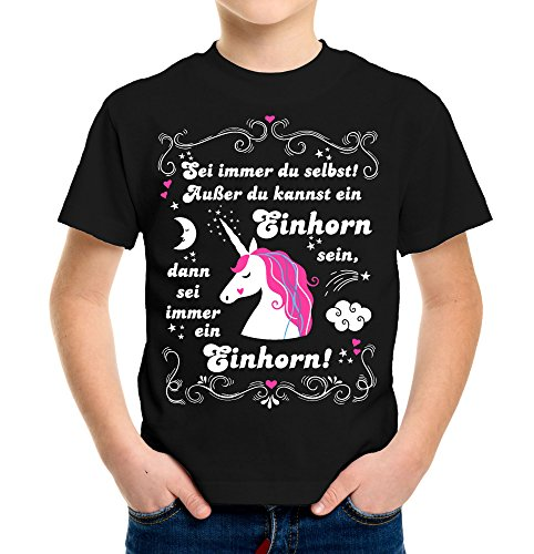 ... Einhorn Kinder T-Shirt 116 - 164 | Männer | Herren | Witziges | Unicorn | Funny | Regenbogen | Horse | Pferde | M2 (S) (Popcorn-mädchen-kostüm)