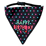 #2: Happy Birthday! Dog Bandana by LANA, quirky & cool dog fashion accessory with easy to use adjustable strap