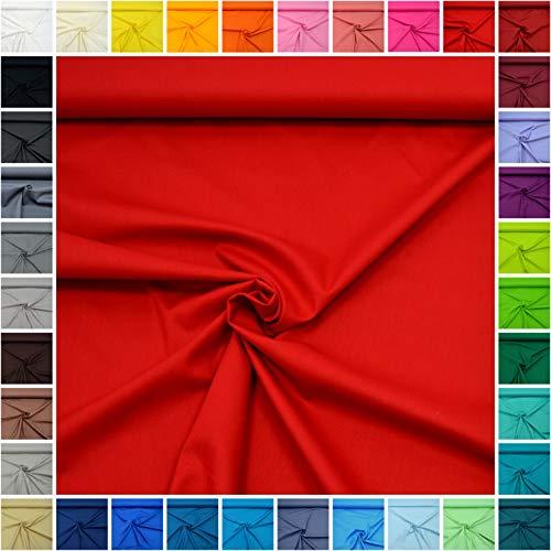 MAGAM-Stoffe Sophie Baumwollstoff Uni 100% Baumwolle Oeko-Tex Meterware 50cm (09. Rot)