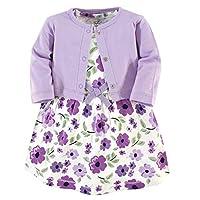 سترة وفساتين من القطن العضوي مزخرف من ناتشر جيرل Purple Garden 2-piece 4T