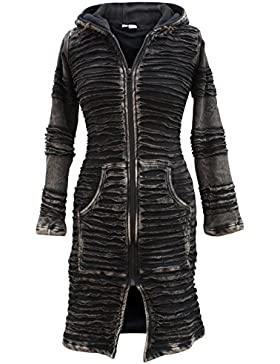 Shopoholic Fashion para mujer Stonewashed Boho Hippie gótico largo chaqueta