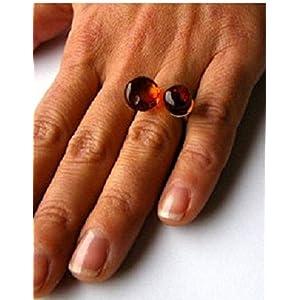Bernstein Ring Silber 925 NEU UNIKAT –