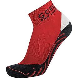 GORE BIKE WEAR Calcetines para ciclismo de carrera, Largo tobillo, GORE Selected Fabrics, CONTEST Socks, Talla 44-46, Rojo/Negro, FECONT359905