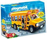 Playmobil - School Bus with Flashing Lights! - EXCLUSIVE - includes 3 School Children & Bus Driver - 5940