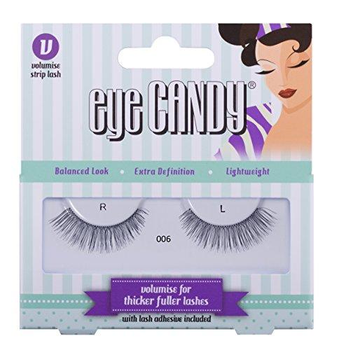 Eye Candy 006 Faux cils look naturel plein de volume, style 50's
