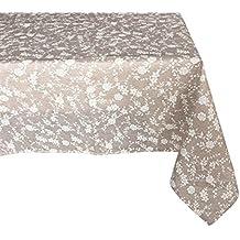 Textiles el Cid Sicilia Mantel Resinado Antimanchas, Algodón-Poliéster, Beige, 35x35x1.70 cm