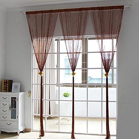 etbotu Porte Windows Panneau Rideau pour salon Motif Divider String