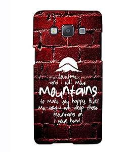 Fuson Designer Back Case Cover for Samsung Galaxy A7 (2015) :: Samsung Galaxy A7 Duos (2015) :: Samsung Galaxy A7 A700F A700Fd A700K/A700S/A700L A7000 A7009 A700H A700Yd (Love me and I will theme)