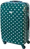 XL Hartschalen Reise Koffer Trolley TSA Schloss 85 Liter Türkis Punkte 813/818