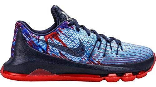 Nike KD 8 Breit Maschenweite BasketballSchuh soar mid navy bright crimson white 446