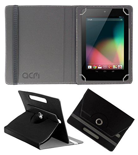 Acm Rotating 360° Leather Flip Case For Asus Google Nexus 7 2012 Tablet Cover Stand Black  available at amazon for Rs.149