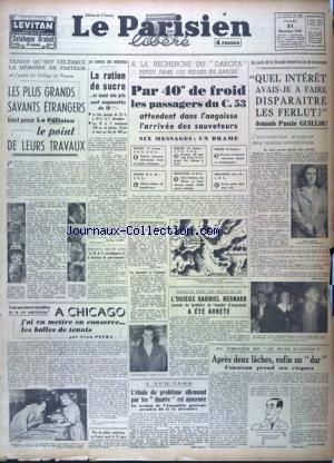 PARISIEN LIBERE EDITION DE 5 HEURES (LE) [No 709] du 21/11/1946