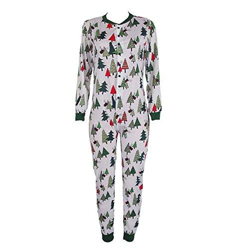 Hzjundasi Erwachsene Flapjacks passende Weihnachten Baum Familie Pyjamas Erwachsene, Kinder und Säugling Nachtwäsche Nachtwäsche (Frauen Größe L)