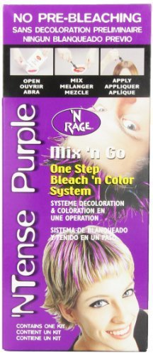 N'rage Mix and Go Hair Color System, Tense Purple, 1.5 Ounce by N'rage (English Manual) - Nrage Mix