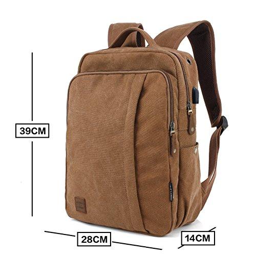 Mode-Rucksack/Herren casual Canvas Tasche/Reisetasche/Rucksack/Männlichen High-School-Schüler Schulranzen-D D