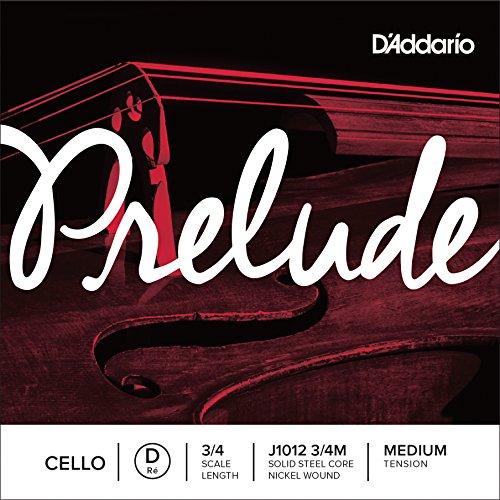 D'Addario J1012-3/4M Prelude Cello Einzelsaite 'D' Nickel umsponnen 3/4 Medium