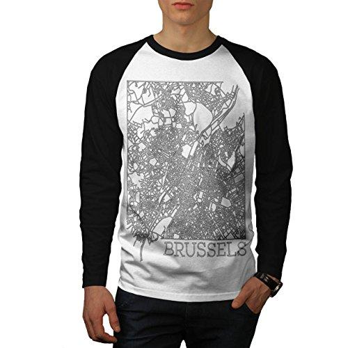 belgium-brussels-map-big-town-men-new-white-black-sleeves-m-baseball-ls-t-shirt-wellcoda