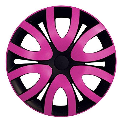 Jeep-fußmatten Pink ((Farbe & Größe wählbar) 16 Zoll Radkappen MICKY Pink passend für fast alle Fahrzeugtypen – universal)