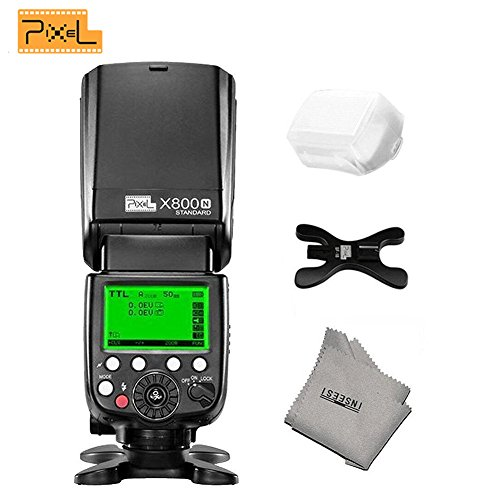 PIXEL X800N Standard Speedlite Flash GN60 Compatible With All Nikon SLR Camera Returns Only 3 Seconds Power-Saving Design Output Up To 180 Times (Not included battery)