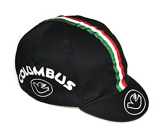 Cinelli, Berretto Columbus Logo, Nero (Black), Taglia unica