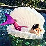 Riesiges Aufblasbares Spielzeug Riesen Perle Muscheln Aufblasbar Pool Schweben Schwimmen Ring Schale...