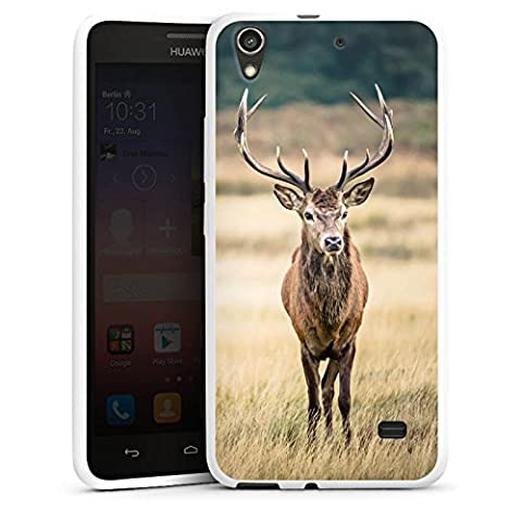 Huawei Ascend G620s Housse Étui Silicone Coque Protection Cerf Forêt Animal